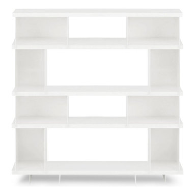 Blu Dot - Blu Dot SHILF Version 3.0 - White, White - Modern shelving... cafeteria style. What better way to showcase your Vonnegut collection alongside your beloved knickknacks than the SHILF modular shelving system. Combine steel components as you see fit without tools or hardware. Your collection will be the talk of the town. Available in ivory or matte black powder-coat.