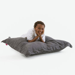 """Great Deal Furniture - Loren Bean Bag Lounge Pillow, Charcoal Grey - The Loren bean bag pillow provides you with a comfortable lounge option for any room. Suitable for adults or children, the puncture-proof cover is durable for anyone. The faux suede microfiber provides a comfortable experience with a combination of Eco-friendly recycled foam and poly """"bean"""" filled interior. Whether lounging on the sofa or the floor, this piece provides ample pillowy comfort."""