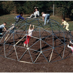 Sportsplay - Sportsplay Super Dome - 501-121-GALVANIZED - Shop for Swings Slides and Gyms from Hayneedle.com! This super dome may be a little small for professional football players but the Sportsplay Super Dome is plenty big for the kids. The geodesic shape and colorful design is irresistible to kids. The galvanized steel pipes are durable and safe for years of clambering enjoyment.About SportsPlay EquipmentFrom early childhood to early teens SportsPlay offers a broad range of fun value added products manufactured for quality and long-term performance. Their mission is to provide fun equipment of exceptional safety durability and value on the playground and in the neighborhood.SportsPlay is proud to offer IPEMA certified products. In the interest of public playground safety IPEMA provides a third-party certification service whereby a designated independent laboratory validates a manufacturer's certification of conformance to the ASTM F-1487 (excluding section 10 and 12.6.1) Standard Consumer Safety Performance Specification For Public Use standard. The use of this seal signifies that SportsPlay Equipment has received written validation from the independent laboratory that the product associated with the use of the seals conforms to the requirements of ASTM F-1487.SportsPlay Equipment is a member in good standing of IPEMA the International Play Equipment Manufacturers Association. IPEMA is a member-driven international trade organization which represents and promotes an open market for manufacturers of play equipment and surfacing.
