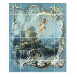 Picture-Tiles, LLC - The Enchanted Home Tile Mural By Francois Boucher - * MURAL SIZE: 36x30 inch tile mural using (30) 6x6 ceramic tiles-satin finish.