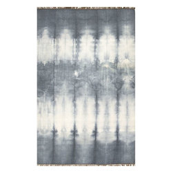 Jaipur Rugs - Jaipur Rugs Flat-Weave Easy Care Wool Gray/Ivory Area Rug, 5 x 8ft - Tie dye technique adds pop of color to these flat-weave rugs.