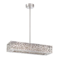 "Kovacs - Kovacs P984-077-L 1 Light 1 Tier 27.75"" Length LED Linear Chandelier Hi - Single Light 1 Tier 27.75"" Length LED Linear Chandelier from the Hidden Gems CollectionFeatures:"