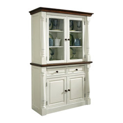 Home Styles - Home Styles Monarch Buffet and Hutch in White and Oak Finish - Home Styles - Buffet Tables and Sideboards - 5020617