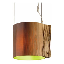 ecofirstart - The Wise One - Channel an enchanted woods in your home with these rustic-modern pendants. The lampshades are actually carefully hollowed out logs, with all the unique grain markings, bumps and knots intact. The result is absolutely magical when suspended over your dining table, kitchen island or entryway.