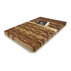 Madeira - Madeira Canary Jumbo End-grain Teak Chop Block - Easily prepare delicious meals with the help of this gorgeous end-grain cutting board. Crafted with eco-friendly teak products,this large rectangular chop block is extremely durable to resist kitchen wear and tear.