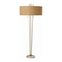 Arteriors - Arteriors Home - Jenson Marble Floor Lamp - 79934-322 - Arteriors Home - Jenson Marble Floor Lamp - 79934-322 Features: Jenson Collection Floor LampSteel FinishSteel and Marble Material lamp bodyLinen shade and Cotton lining Shade materialA Socket Socket typeOn and Off pull chain Switch type. At socket Switch location2-Prong and polarized Plug typeHand crafted. UL and CUL listed. Accommodates 60W max A19 Incandescent bulbs not included. Wired for 110V - 120V Some Assembly Required. Dimensions: Overall : 27'' W X 65'' HShade : 26.75'' W X 10.25'' HBody : 11.5'' W X 65'' H