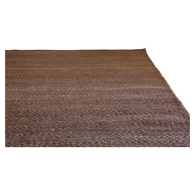 Armadillo & Co - Hand Woven Herringbone Hemp Rug, Natural/Ivory, 8x10 - Hand crafted by individual artisans in India using sustainable, natural fibers.