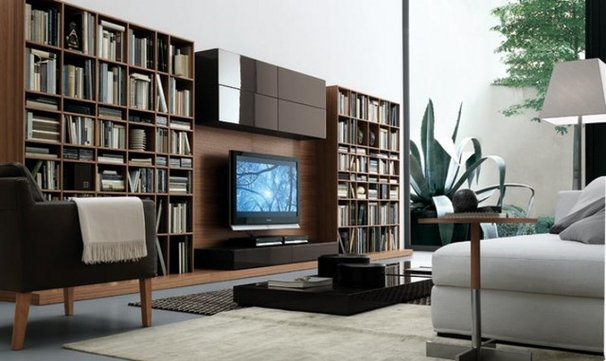 Contemporary Bookcases by A WHITE ROOM