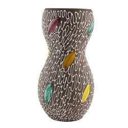 Lavish Shoestring - Consigned 1950s Italian Double Gourd Pottery Vase - This is a vintage one-of-a-kind item.