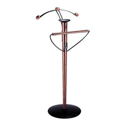 Organize It All - Garment/ Suit Valet - This standing valet is the perfect way to organize your home or officeKeep your suit wrinkle free with this espresso finished standing valetIncludes a hanger for your shirt and jacket