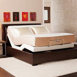 Upton Home - myCloud Adjustable Bed Queen-size with 10-inch Gel Infused Memory Foam Mattress - The adjustable bed by myCloud provides hassle free construction and offers structural integrity,quality and luxury. Featuring the latest in gel technology,the myCloud mattress creates the most enjoyable sleeping experience around.