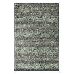 """Loloi Rugs - Loloi Rugs Nyla Collection - Charcoal, 2'-4"""" x 7'-9"""" - The power-loomed Nyla Collection from Egypt offers a range of subtle, sophisticated looks that enhance an interior space at a value-driven price. Made of 100% viscose, Nyla features soft color combinations with touches of mocha, plum, and mist throughout the selection."""