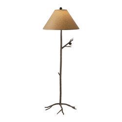 Stone County Iron Works - Pine Iron Floor Lamp - Stone County Iron Works 904-083 Pine Iron Lodge/Rustic Floor Lamp