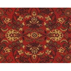 "Couristan - Everest Isfahan 3791-4872A-Crimson 2'2"" x 9 "" - Premium Single Stair Treads - Everest Isfahan 3791-4872A-Crimson 2.2 x 9 Inches Rug Depot Premium single Treads - Buy the amount of treads you require."