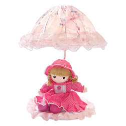 Lite Source - Table Lamp - Pink Doll/Laced Fabric Shade - Table Lamp - Pink Doll/Laced Fabric Shade, E27 Type B 40W