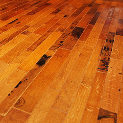 Fontenay Flooring - Fontenay Wine Barrel Flooring - Cooperage ($23/sq. ft.), 24 Square Foot Bundle - Our Cooperage product represents the outside of the barrel head with all of its patina, cooper stamps and special markings from Napa. Wine barrel flooring enhances the uniqueness of a wine cellar, bar, kitchen, restaurant or any application.