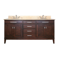 Madison 72-inch Vanity Combo Light Espresso