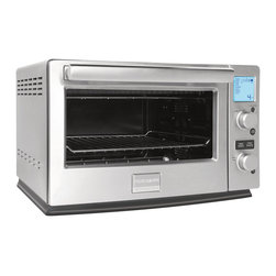 Frigidaire - Frigidaire Professional Convection Toaster Oven - This Frigidaire professional convection toaster oven features 8 preset cooking options and a pro-select LCD display. Included with this toaster oven is a bake pan, a pizza pan and an adjustable cooking rack.