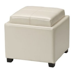 Safavieh - Safavieh Harrison Single Tray Ottoman X-K3328DUH - Care Instruction: Although Leather is one of the most durable upholstery materials, proper care is viatal to maintain its appearance and performance. Dust weekly using a soft, clean cloth slightly dampened with distilled water. Blot spills immediately with a soft, clean absorbent dry cloth.