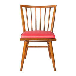 Mid-Century Side Chair Upholstered in Coral - $650 Est. Retail - $375 on Chairis -