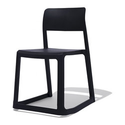 Industry West - Tact Chair - 100% Poly. 100% Awesome. The Tact chair is stackable, lightweight ,and suitable for indoor and outdoor use. Available in 3 colors, this modern silhouette turns eyes in any environment. The Tact Chair also features a unique rocking feature making it one of the most comfortable chairs offered by Industry West.