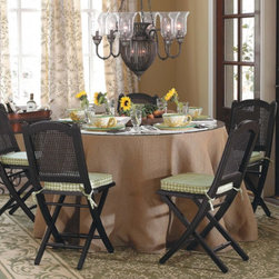 """108"""" Party Tablecloth - This beautiful tablecloth has been designed to work with a 48 inch Party Table.  Its heavy weight ensures it will hang beautifully.  Plan ahead for those spring and summer parties with beautiful easy-care linens.  These will become the staples in your linen closet for years to come."""
