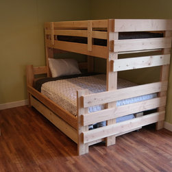 Twin over full bunk beds -