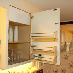 Cabinet Door Spice Rack - Make more room on your cabinet shelves by storing your spices in door-mounted spice racks.