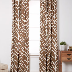 EZ Living Home - Cream & Brown Zebra Window Panels- Set of Two - These window panels feature a colorful twist on traditional zebra print to add-catching flair to décor, while back tab top construction makes for a smooth front-facing appearance.   Includes two panels 50'' W x 84'' H 100% cotton Machine wash Imported