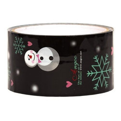 black snowman Deco Tape christmas snowflakes - Black Christmas Deco Tape