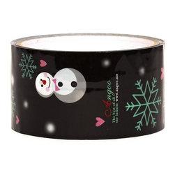 black snowman Deco Tape christmas snowflakes - Black Christmas Deco Tape