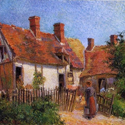 """Art MegaMart - Camille Pissarro Old Houses at Eragny - 20"""" x 25"""" Premium Canvas Print - 20"""" x 25"""" Camille Pissarro Old Houses at Eragny premium canvas print reproduced to meet museum quality standards. Our museum quality canvas prints are produced using high-precision print technology for a more accurate reproduction printed on high quality canvas with fade-resistant, archival inks. Our progressive business model allows us to offer works of art to you at the best wholesale pricing, significantly less than art gallery prices, affordable to all. We present a comprehensive collection of exceptional canvas art reproductions by Camille Pissarro."""