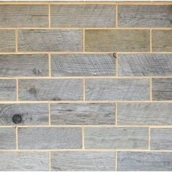 Wooden subway tile from Homedepot.com - All natural  wooden subway tile available @ homedepot.com (Keyword:Rustix Woodbrix)