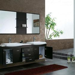 "71"" Bowman Double Sink Vanity - Espresso (147-519-DA-5831) -"
