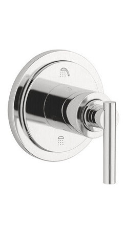 """Grohe - Grohe 19166EN0 Brushed Nickel Atrio Atrio 3-Port Diverter Valve Trim - Product Features:Fully covered under Grohe s limited lifetime warrantyTrim constructed of brass – ensuring durability and providing aesthetic appealPremier finishing process – finishes will resist rusting and corrosion through every day useDiverter valve trim - for switching between tub and shower applicationsADA compliantSecure mounting assemblyAll hardware required for installation is includedRough-in valve is not included - when adding to cart valve options will be presentedProduct Technologies / Benefits:Starlight Finish: Continuously improving over the last 70 years Grohe's unique plating process has been refined to produce and immaculate shiny surface that is recognized as one of the best surface finishes the world over. Grohe plates sub layers of copper and/or nickel to ensure that a completely non-porous, immaculate surface awaits the chrome layer. This deep, even layered chrome surface creates a luminous and mirror like sheen.Product Specifications:A swinging dial directs water to desired shower functionTrim Height: 4-5/16"""" (measured from bottom of trim to top of escutcheon plate)Trim Width: 4-5/16"""" (measured from left most to right most point on escutcheon plate)Lever handle included with trim kitRough-in valve sold separatelyDesigned for use with standard U.S. plumbing connections"""
