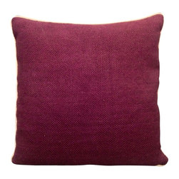 "Villa Home - Textured Linen Plum Pillow - You are ""plum"" in luck with our Textured Linen Pillow.  Handcrafted from all  natural materials, this vibrant throw includes a feather down insert for a luxurious feel that compliments its tantalizing glow."