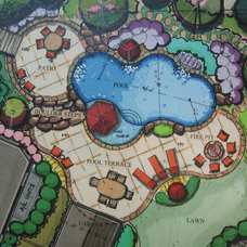Traditional Site And Landscape Plan by Elements Landscape