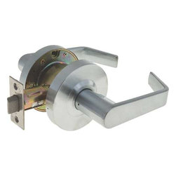 "LEGEND - Grade 2 Commercial Duty Passage Hall and Closet Leverset Lockset, Satin Chrome - This heavy duty ANSI Grade 2 certified Lever handle passage lockset is ADA approved for barrier free access on all commercial and residential interior doors. The versatile, reversible, Lever handle can be used for either right or left handed applications. The 5"" handles work independently of each other. This set has no thumb-turn lock, ensuring easy opening of doors which never need to be locked. The 2-3/4"" backset latch meets the UL 3 Hour Fire Rating. This lockset is made to fit doors between 1-3/8"" and 1-3/4"". The US26D Satin chrome Finish is covered by a 10 Year Warranty. Legend Contractor Series leversets also carry a Lifetime Mechanical Warranty."