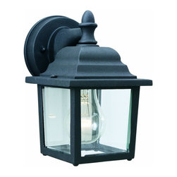 Thomas Lighting - Thomas Lighting Sl9422-7 Hawthorne One-Light Outdoor Wall Lantern, ... - The Hawthorne Collection offers this die-cast aluminum exterior fixture with its matte black finish. Features:-5.50-Inch Width by 8.50-Inch Height -1 light x 60-watt, bulbs not included -Thomas Lighting - A Philips Group Brand -Philips Consumer Luminaires North America -Easy hangerDimensions: 6″ x 7″ x 9″.