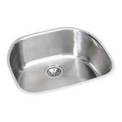 Elkay - Elkay EGUH2118 Harmony Elumina Stainless Steel Undermount Single Bowl Kitchen Si - Elkay EGUH2118 Harmony Elumina Stainless Steel Undermount Single Bowl Kitchen Sink with no Faucet HolesTransitional blend of curves and lines define Elkay's Harmony collection. The Elkay Difference is enduring quality, superior craftsmanship, and timeless style. All of Elkay's sinks are precision crafted with outstanding materials to give your home the finishing touch you desire. With the choices and options you need to spark your imagination and beautifully complement your decor. Elkay sinks are designed to last the test of time.  Installation Type: Undermount