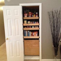 Kitchen Pantry Drawers - Custom Kitchen Pantry Drawers