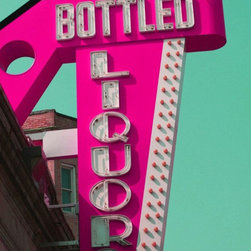 Bottled Liquors, no.2, 8x10 Metallic Print - The colors in this photograph are so vibrant, they nearly jump off the page! A fantastic way to introduce color into your space.