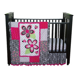 Trend Lab - Trend Lab Zahara 3-Piece Crib Bedding Set - The Zahara 3-piece Crib Bedding Set by Trend, along with the Zahara bedding accessories.