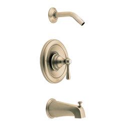Moen - Moen T2113NHAZ Antique Bronze Tub/Shower Valve Trim, 1-Hand 1-Function Cartridge - Moen T2113NHAZ Kingsley Positemp Tub/Shower Trim - Antique Bronze