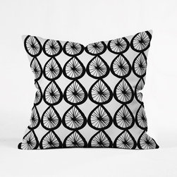 Wiel Pillow Cover - The playful and fun pattern on the Wiel Pillow Cover is a fitting accent for your couch or bed. The simple black and white colors complement its eclectic pattern, making it bold and yet able to blend with any existing color palette in your home.