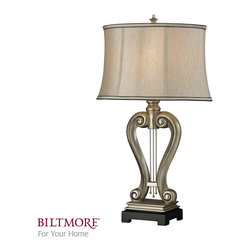 Dimond Lighting - Dimond Lighting D2403 Silver Harp 1 Light Table Lamps in Silver Leaf - Silver Harp Table Lamp