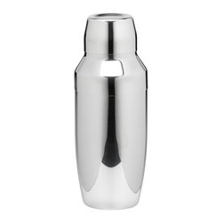 Kraftware - Polished Stainless Steel 22 oz. Cocktail Shaker - 6 in. W x 6 in. D x 12 in. H (1 lbs.)