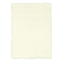 Linon - Plush Faux Sheepskin 5'x7' Rectangle White Area Rug - The Faux Sheepskin area rug Collection offers an affordable assortment of Plush stylings. Faux Sheepskin features a blend of natural White color. Hand Tufted of 100% Modified Acrylic Pile the Faux Sheepskin Collection is an intriguing compliment to any decor.