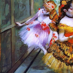 """Edgar Degas Ballet Dancers in Butterfly Costumes (detail)   Print - 16"""" x 24"""" Edgar Degas Ballet Dancers in Butterfly Costumes (detail) premium archival print reproduced to meet museum quality standards. Our museum quality archival prints are produced using high-precision print technology for a more accurate reproduction printed on high quality, heavyweight matte presentation paper with fade-resistant, archival inks. Our progressive business model allows us to offer works of art to you at the best wholesale pricing, significantly less than art gallery prices, affordable to all. This line of artwork is produced with extra white border space (if you choose to have it framed, for your framer to work with to frame properly or utilize a larger mat and/or frame).  We present a comprehensive collection of exceptional art reproductions byEdgar Degas."""