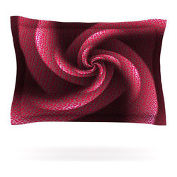 """Kess InHouse - Michael Sussna """"Isabella's Pinwheel"""" Red Pillow Sham (Cotton, 30"""" x 20"""") - Pairing your already chic duvet cover with playful pillow shams is the perfect way to tie your bedroom together. There are endless possibilities to feed your artistic palette with these imaginative pillow shams. It will looks so elegant you won't want ruin the masterpiece you have created when you go to bed. Not only are these pillow shams nice to look at they are also made from a high quality cotton blend. They are so soft that they will elevate your sleep up to level that is beyond Cloud 9. We always print our goods with the highest quality printing process in order to maintain the integrity of the art that you are adeptly displaying. This means that you won't have to worry about your art fading or your sham loosing it's freshness."""